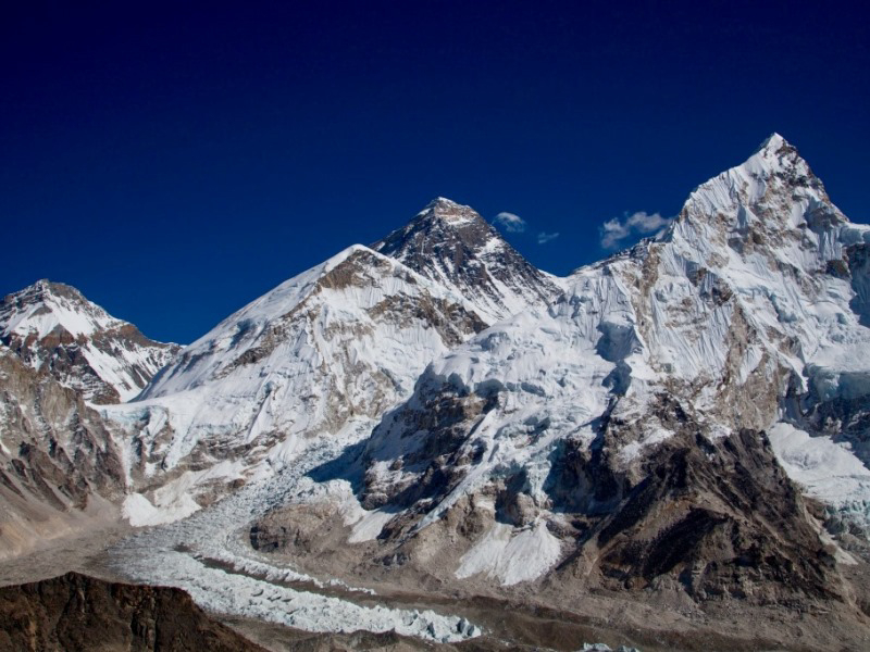 Der Höhepunkt des Trails: Blick vom Kala Patthar auf den Mt. Everest