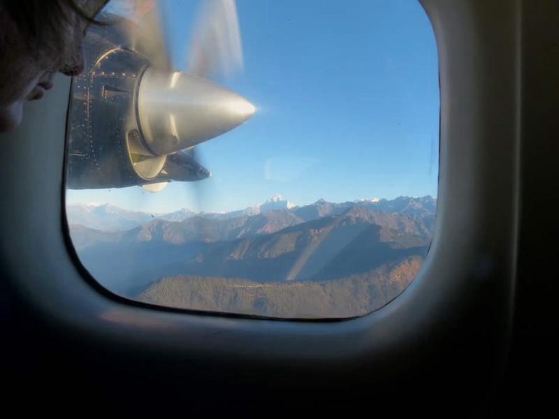 Atemberaubend ist der Blick auf den Himalaya während des Fluges von Kathmandu nach Lukla
