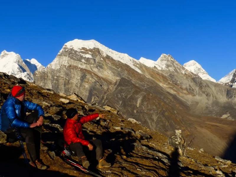 Alpenglühen im Himalaya