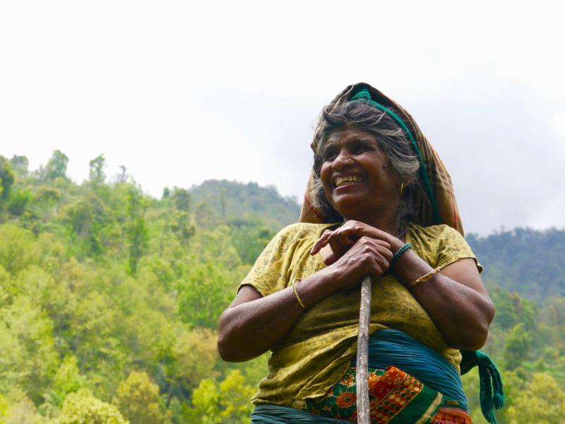 Ein freundliches Lächeln für den exotischen Besucher