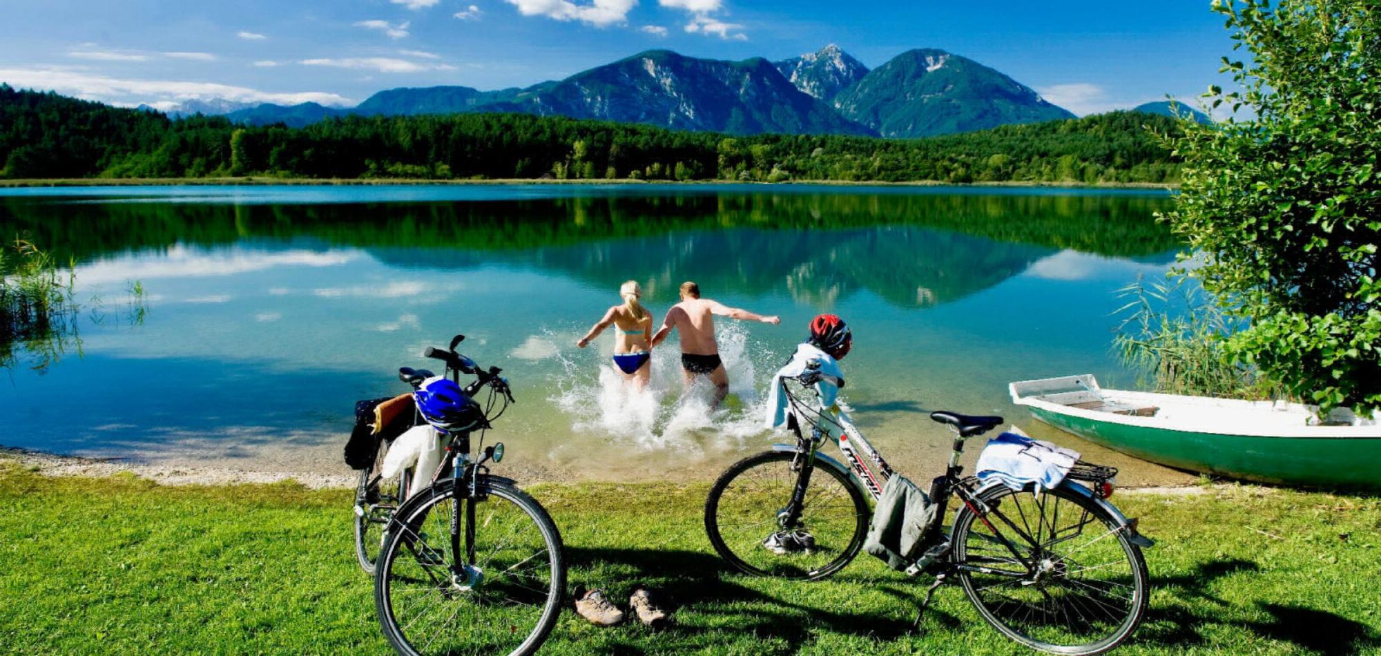 Radfahren mit Badespaß