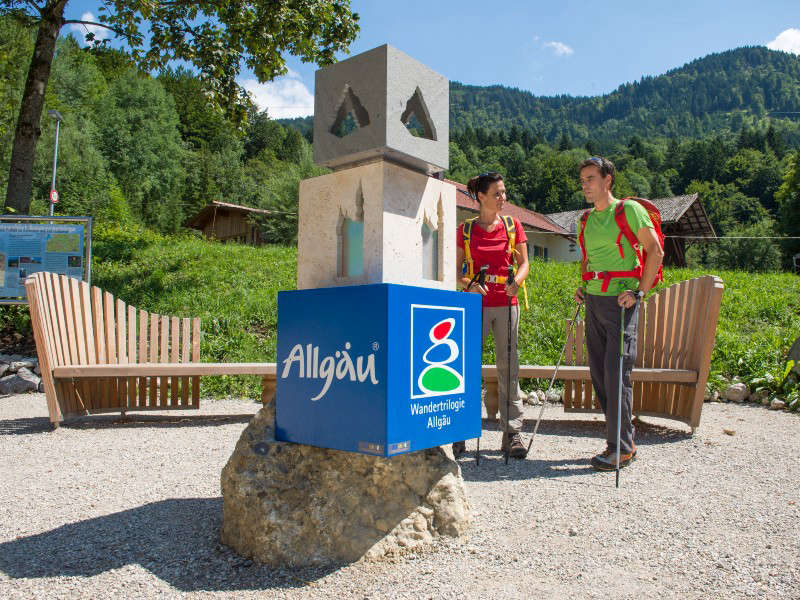 This is the place for you! A Start and Welcome Place of the Wandertrilogie Allgäu; pictured for the Wasserläufer Route in Halblech © Allgäu GmbH